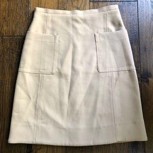 Zara Khaki Tan Skirt fully lined w front pockets